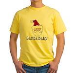 Santa Baby Christmas Yellow T-Shirt