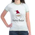 Santa Baby Christmas Jr. Ringer T-Shirt