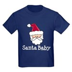 Santa Baby Christmas Kids Dark T-Shirt