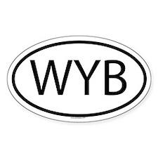 WYB Oval Decal