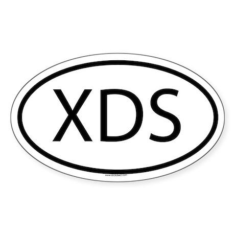 XDS Oval Sticker