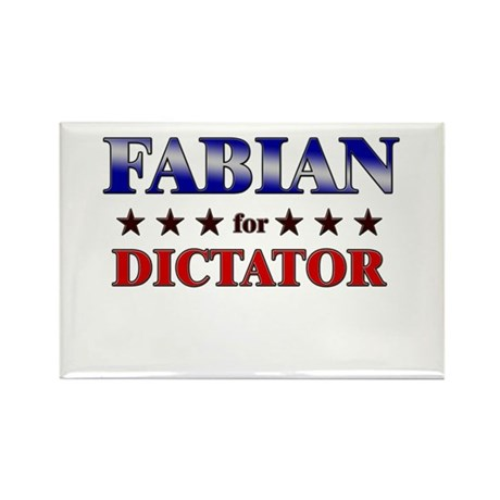FABIAN for dictator Rectangle Magnet