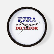 EZRA for dictator Wall Clock