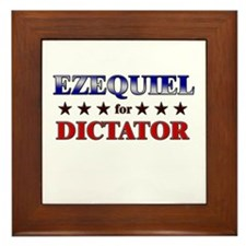 EZEQUIEL for dictator Framed Tile