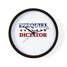 EZEQUIEL for dictator Wall Clock