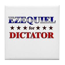 EZEQUIEL for dictator Tile Coaster
