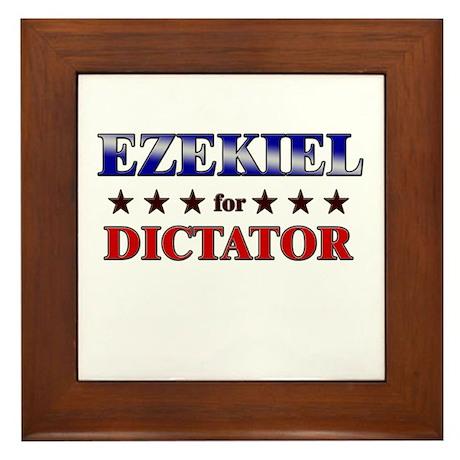 EZEKIEL for dictator Framed Tile