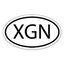 XGN Oval Decal