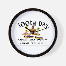 100th Day of School 80 Days Wall Clock