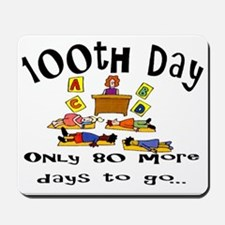 100th Day Only 80 More Mousepad