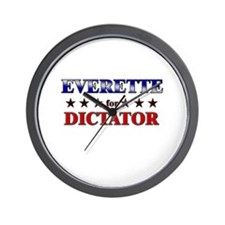 EVERETTE for dictator Wall Clock