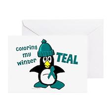 Winter Penguin 3 (OC Awareness) Greeting Cards (Pk