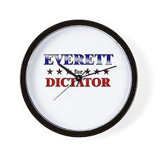 EVERETT for dictator Wall Clock