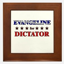 EVANGELINE for dictator Framed Tile