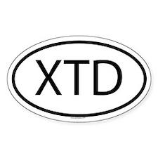 XTD Oval Bumper Stickers