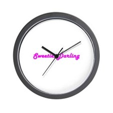 Sweetie Darling Wall Clock