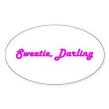 Sweetie Darling Oval Decal