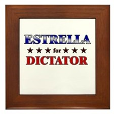 ESTRELLA for dictator Framed Tile