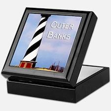 Cape Hatteras Lighthouse Poster Text Keepsake Box