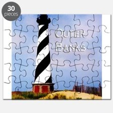 Cape Hatteras Lighthouse Poster Text Outer Puzzle