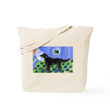 FLAT COATED RETRIEVER dog Sun Tote Bag