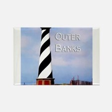 Cape Hatteras Lighthouse Poster Text Outer Magnets