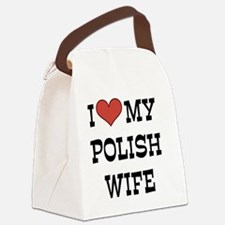 Unique Polish wife Canvas Lunch Bag