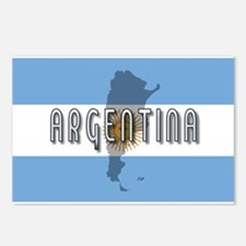 Argentina Flag Extra Postcards (Package of 8)