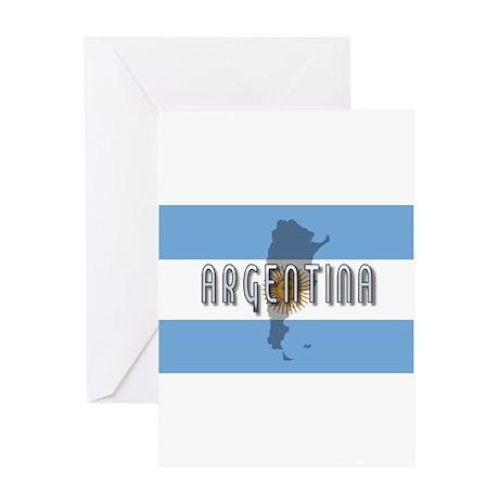 Argentina Flag Extra Greeting Card