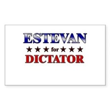 ESTEVAN for dictator Rectangle Decal
