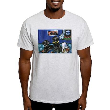FLAT COATED RETRIEVER mischie Ash Grey T-Shirt