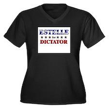 ESTELLE for dictator Women's Plus Size V-Neck Dark