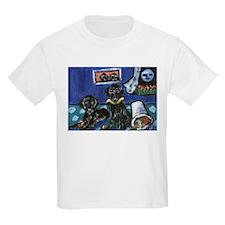 FLAT COATED RETRIEVER mischie Kids T-Shirt