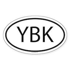 YBK Oval Decal
