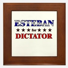 ESTEBAN for dictator Framed Tile