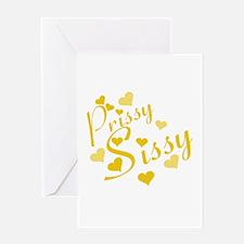 prissy sissy Greeting Card