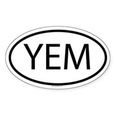 YEM Oval Decal