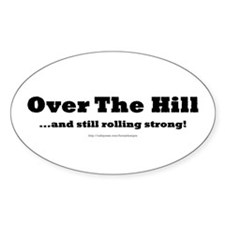 Over the Hill Oval Decal