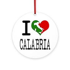 I Love Calabria Italian Ornament (Round)