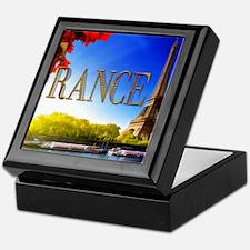 France on the Seine Keepsake Box