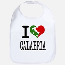 I Love Calabria Italian Bib