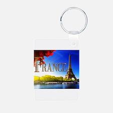 France on the Seine Keychains