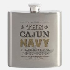 The Cajun Navy Neighbors Helping Neighbors Flask