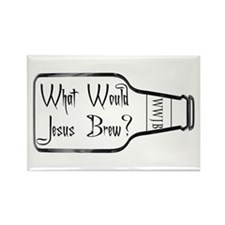 What Would Jesus Brew? Rectangle Magnet