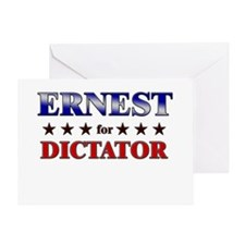 ERNEST for dictator Greeting Card