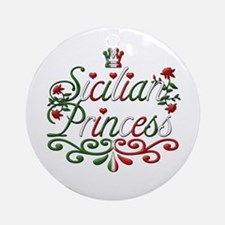 Sicilian Princess italian Ornament (Round)