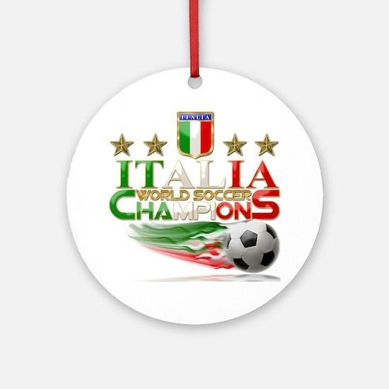 Italia World Soccer Champions Ornament (Round)