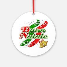 Buon Natale Italian Ornament (Round)