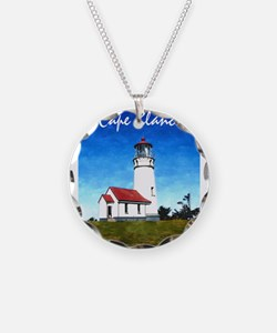 Cape Blanco Lighthouse Text Necklace