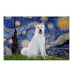 Starry Night - Akita 2 Postcards (Package of 8)